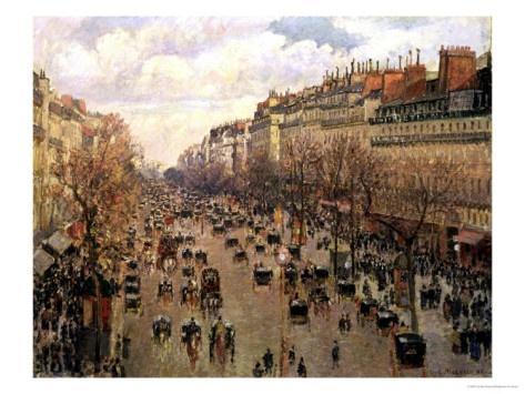 Boulevard Monmartre in Paris, 1897 by Camille Pisarro