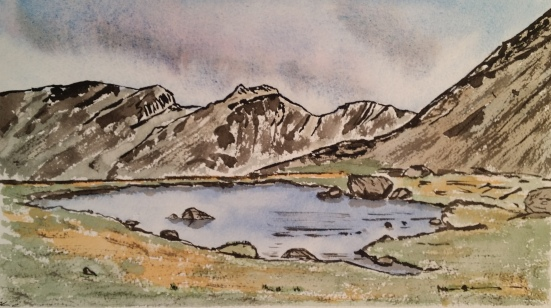 Scafells from Three Tarns